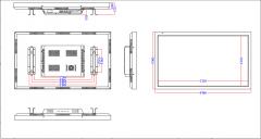 42寸液晶监视器参数规格及尺寸图